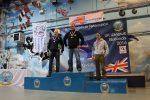 Armagh man Marc Daly on top of the podium. Photo: Irish Wingsuit Facebook